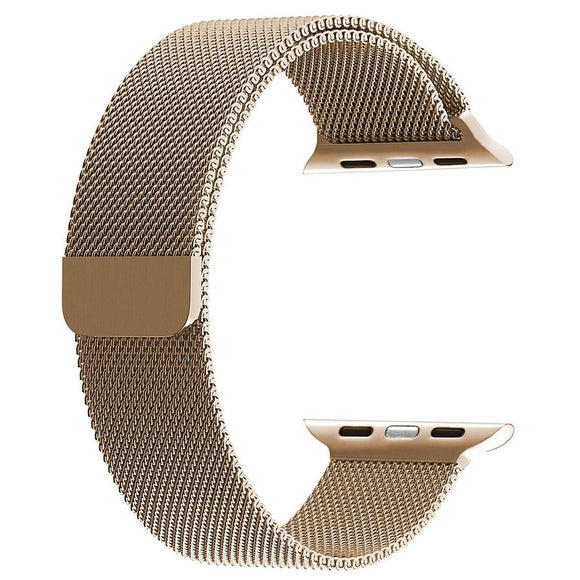 Milanese strap for Apple watch band 42mm/44mm iwatch 4 band Stainless Steel Bracelet Milanese loop Apple watch 3 2 1 - GOLD