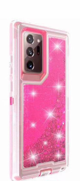 Phone Case Glitter Note 20 Ultra- Hot Pink