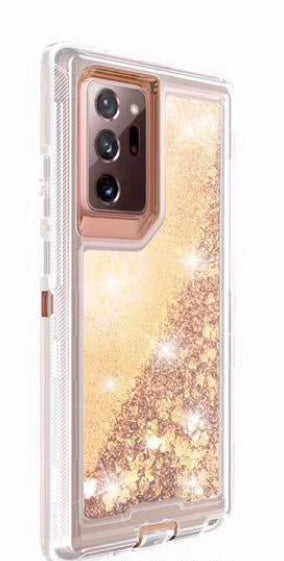 Phone Case Glitter Note 20 Ultra- Gold