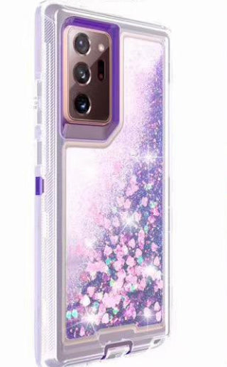 Phone Case Glitter Note 20 Ultra- Purple