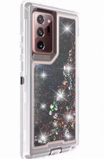 Phone Case Glitter Note 20 -Black