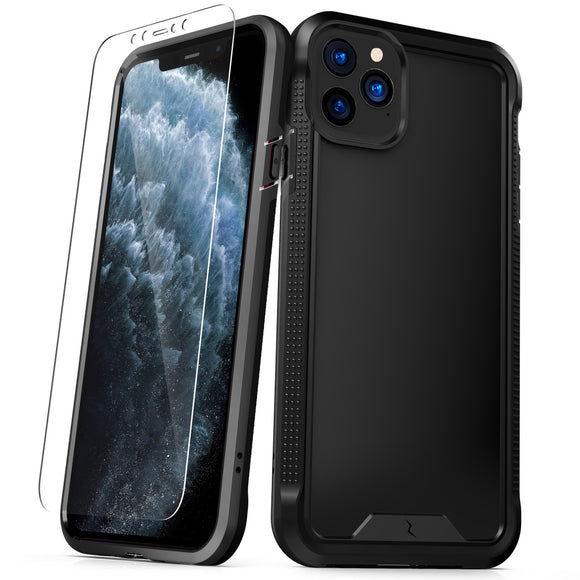 ZIZO ION iPhone 11 Pro (2019) Case - Triple Layered Hybrid Case with Tempered Glass Screen Protector - Black
