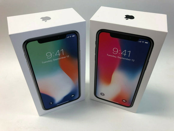 Apple iPhone X 256GB Space Gray ORIGINAL EMPTY BOX ONLY - ACCESSORIES INCLUDED