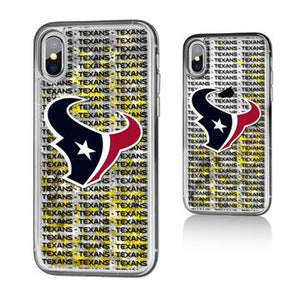 HOUSTON TEXANS BLACKLETTER IPHONE XS Max GOLD GLITTER CASE