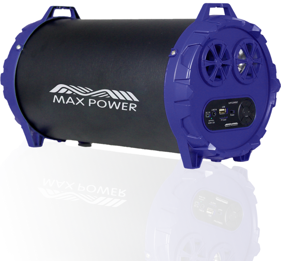Max Power 286BZ Heavy Duty Metal Bazooka Blue