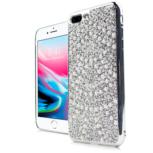 iPhone 8 Plus /7P CHROME ONYX Pearl Case Silver