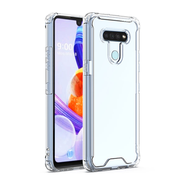 LG K51 High quality TPU Bumper and Clarity PC Case In Clear