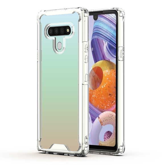 LG STYLO 6 High quality TPU Bumper and Clarity PC Case In CLEAR