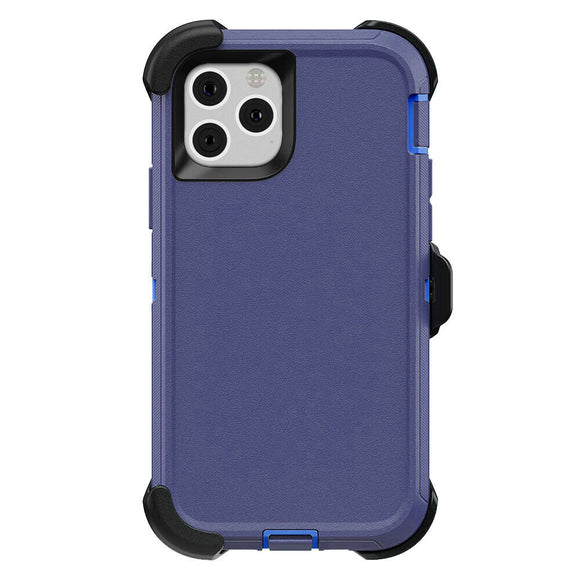 iPhone 11 PRO Hybrid Shockproof Defender Case Cover + Belt Clip Blue