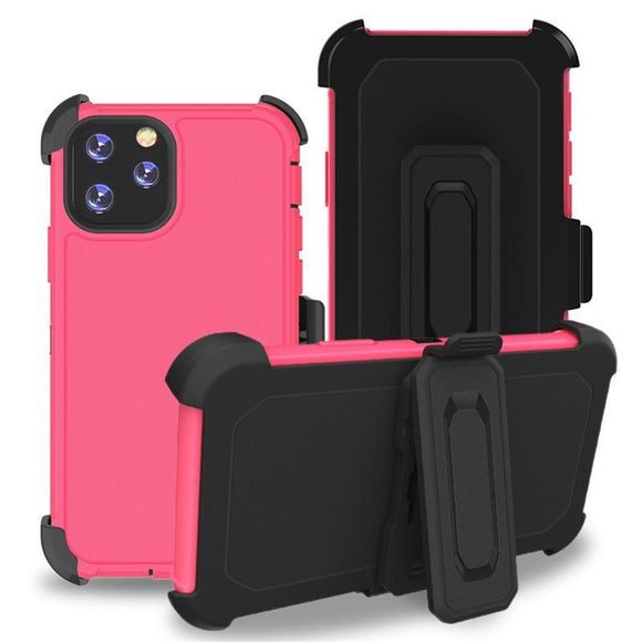 Phone Case iPhone 12 Pro Max With Belt Clip (Pink)