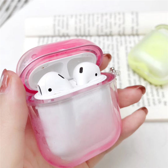 Airpod Glow in the Dark Liquid Case - Pink