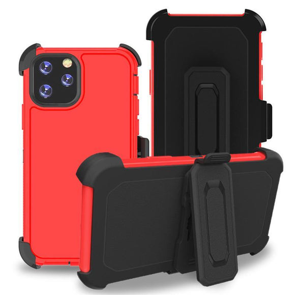 Phone Case iPhone 12 Pro Max With Belt Clip (Red)