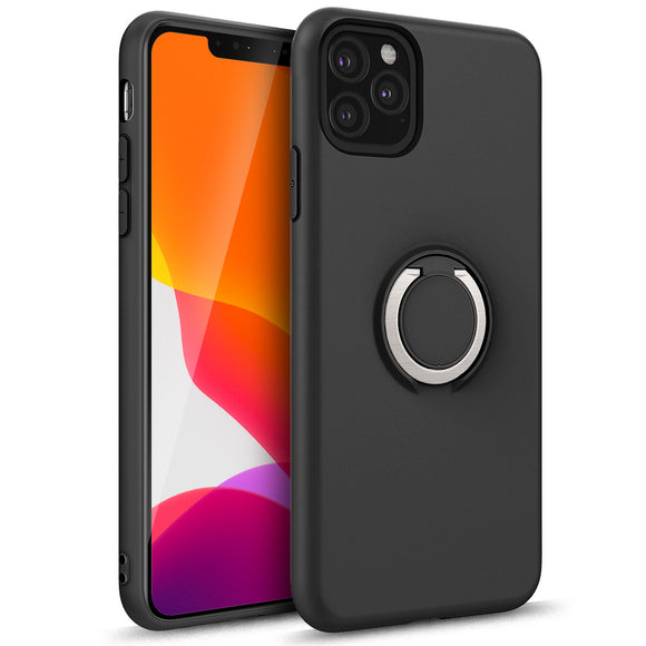 ZIZO REVOLVE SERIES IPHONE 11 PRO MAX (2019) CASE - BUILT IN RING HOLDER KICKSTAND AND MAGNETIC MOUNT-Black