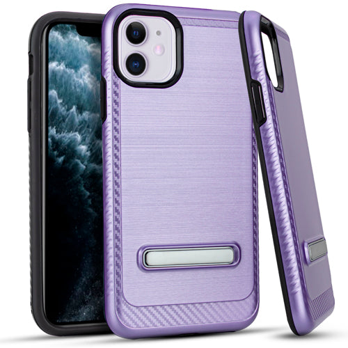 iPhone 11 6.1 Metal Stand Brushed Case PURPLE
