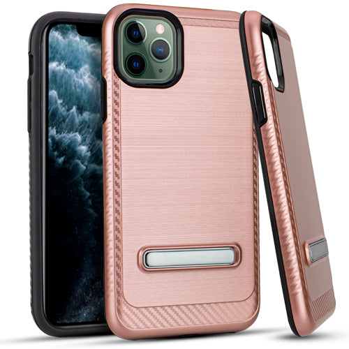 iPhone 11 Pro MAX 6.5 Metal Stand Brushed Case Rose Gold