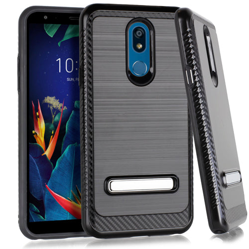 LG K40 Metal Stand Brushed Case