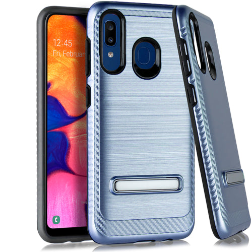 Samsung A20 A50 Metal Stand Brushed Case Dr. Blue