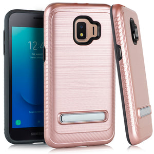 Samsung J2 CORE Metal Stand Brushed Case