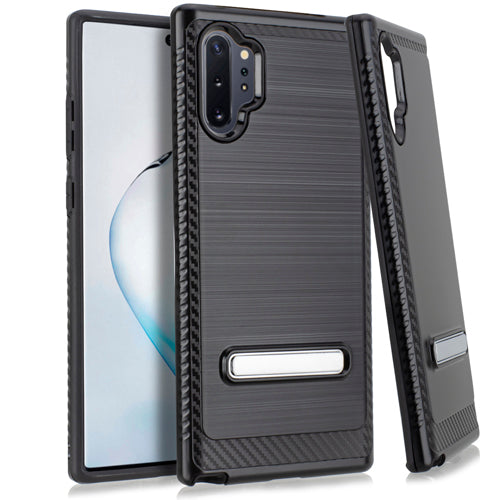 Samsung Note 10 PRO Metal Stand Brushed Case Black