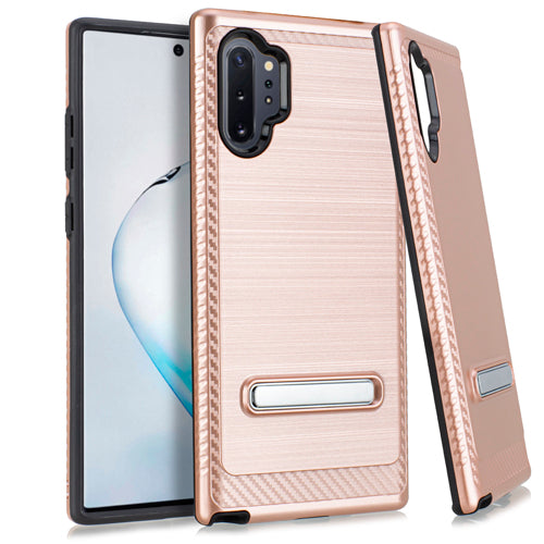 Samsung Note 10 PRO Metal Stand Brushed Case Rose Gold
