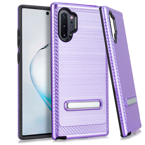 Samsung Note 10 PRO Metal Stand Brushed Case Purple