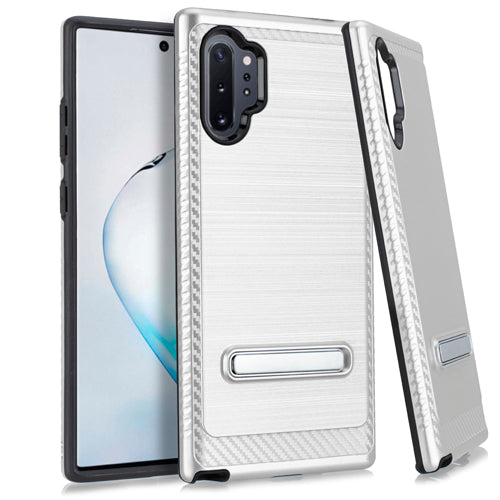 Samsung Note 10 PRO Metal Stand Brushed Case Silver