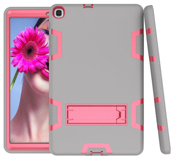 Silicone Case for Samsung Galaxy Tab A 10.1 SM-T510 SM-T515 2019 New Tablet Funda Shockproof Cover for Kids+Screen Film+Pen - PINK