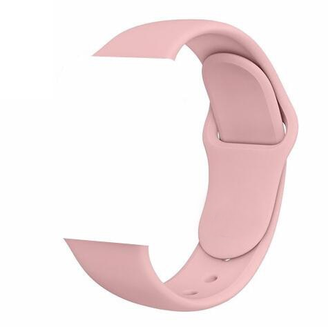 Apple Watch Silicone band 44mm/42mm series- Pink Sand