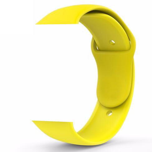 Apple Watch Silicone band 44mm/42mm series - Yellow