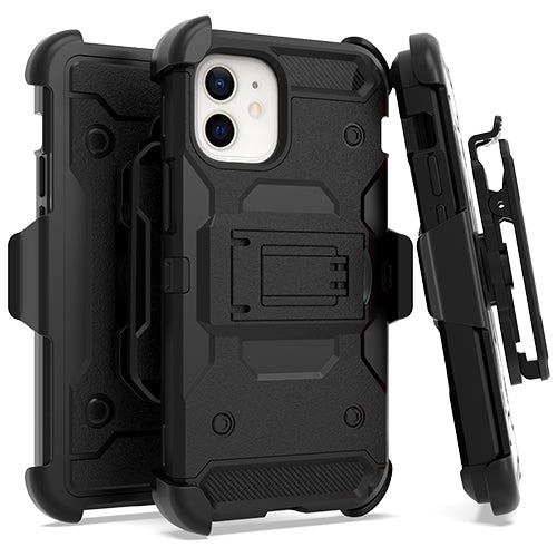 iPhone 12 MINI 5.4 Heavy Duty Tactical Combo Black
