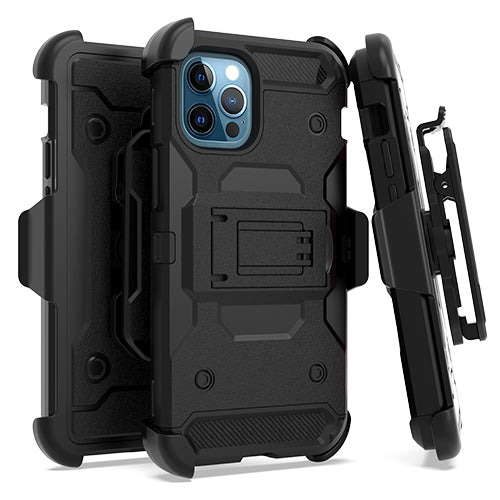 iPhone 12/ 12 PRO 6.1 Heavy Duty Tactical Combo Black