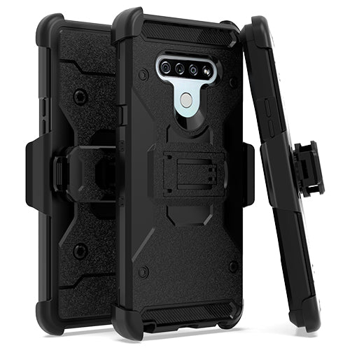 LG Stylo 6 Heavy Duty Tactical Combo Black