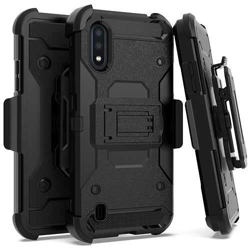 Samsung A01 Heavy Duty Tactical Combo Black