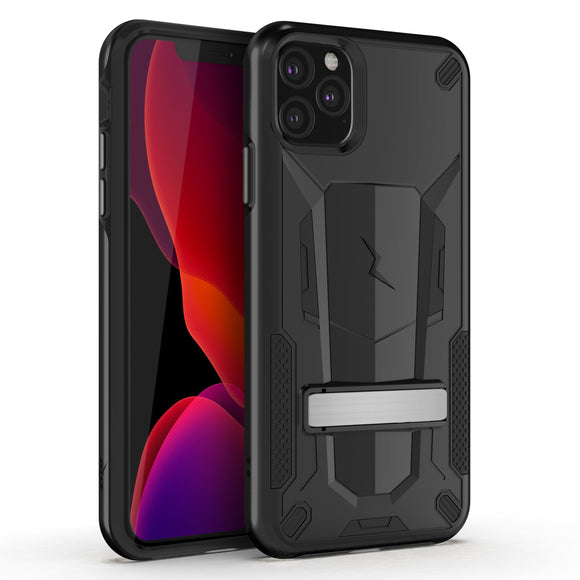 ZIZO TRANSFORM IPHONE 11 PRO (2019) CASE - BUILT-IN KICKSTAND AND UV COATED PC/TPU LAYERS-Black