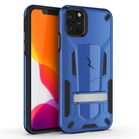 ZIZO TRANSFORM IPHONE 11 PRO MAX (2019) CASE - BUILT-IN KICKSTAND AND UV COATED PC/TPU LAYERS-Blue/Black