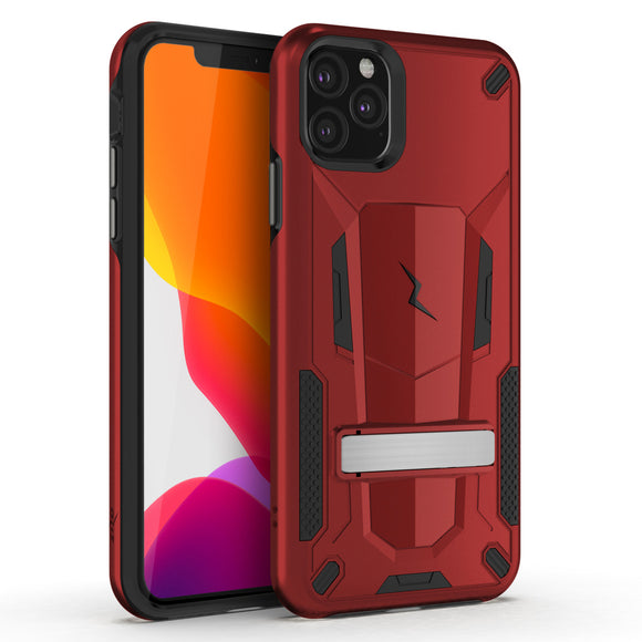 ZIZO TRANSFORM IPHONE 11 PRO MAX (2019) CASE - BUILT-IN KICKSTAND AND UV COATED PC/TPU LAYERS-Red/Black