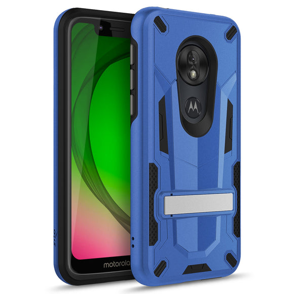ZIZO TRANSFORM MOTO G7 PLAY CASE - BUILT-IN KICKSTAND AND UV COATED PC/TPU LAYERS-Blue