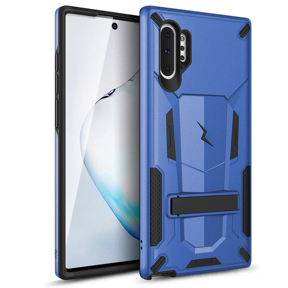 ZIZO TRANSFORM SAMSUNG GALAXY NOTE 10+ CASE - BUILT-IN KICKSTAND AND UV COATED PC/TPU LAYERS - BLUE & BLACK