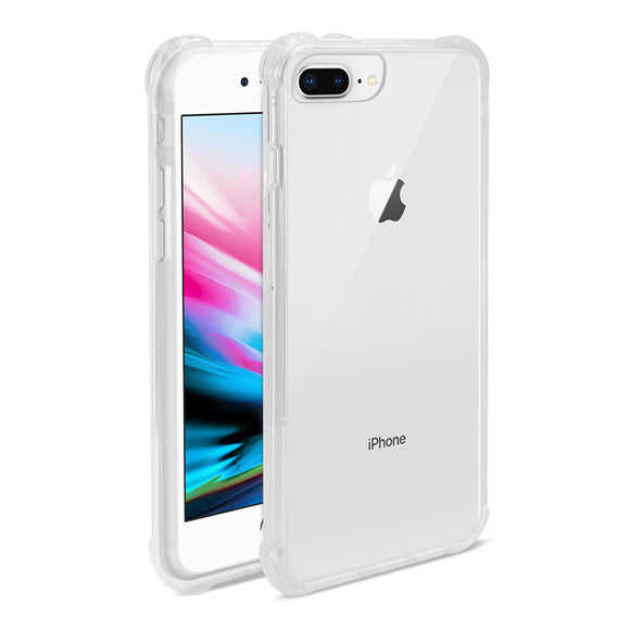Reiko iPhone 8 Plus/iPhone 7 Plus Clear Bumper Case With Air Cushion Protection In Clear