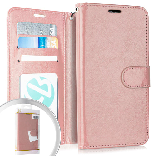 PKG LG Stylo 5 Wallet Pouch 3 Rose Gold