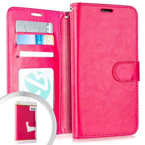 PKG LG Stylo 5 Wallet Pouch 3 Hot Pink