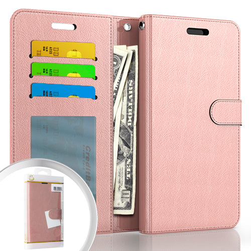 PKG Samsung S21 PLUS 6.7 Wallet Pouch 3 Rose Gold