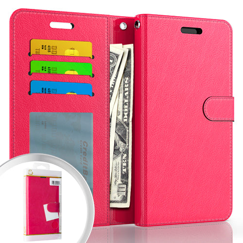 PKG Samsung S21 PLUS 6.7 Wallet Pouch 3 Hot Pink