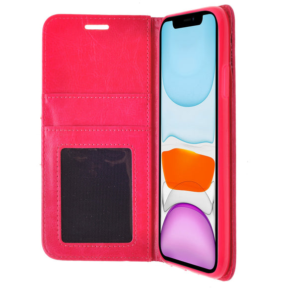 ZIZO WALLET FOLIO IPHONE 11 PRO MAX (2019) CASE - MAGNETIC FLAP CLOSURE WITH CREDIT CARD AND ID HOLDER -PINK