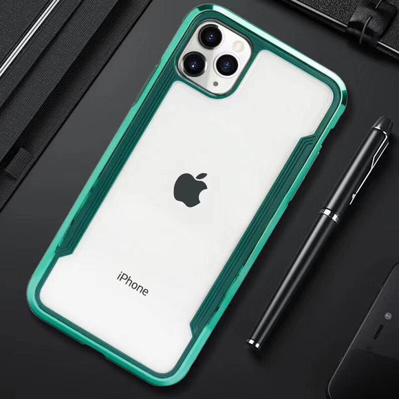 iPhone 11 Pro Max Electroplated Teal/Clear case