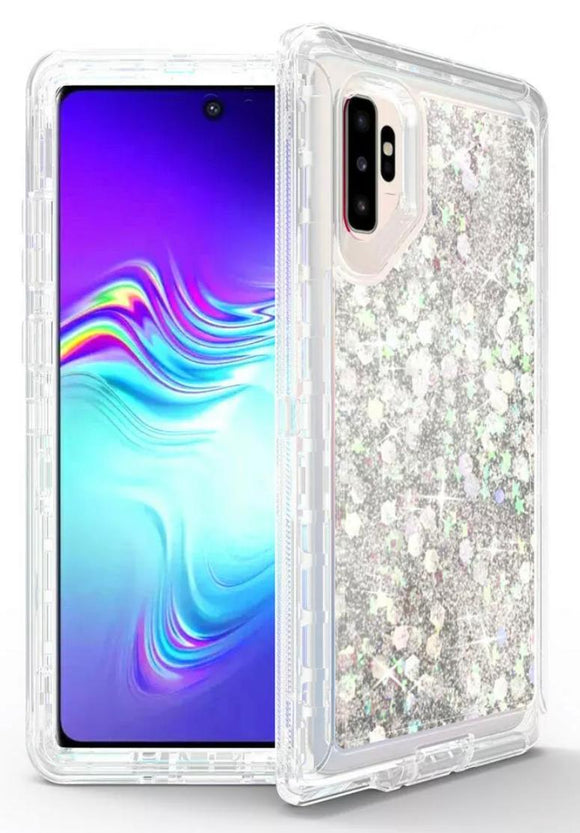 Phone cases for Samsung Note 10 Plus - Glitter Silver