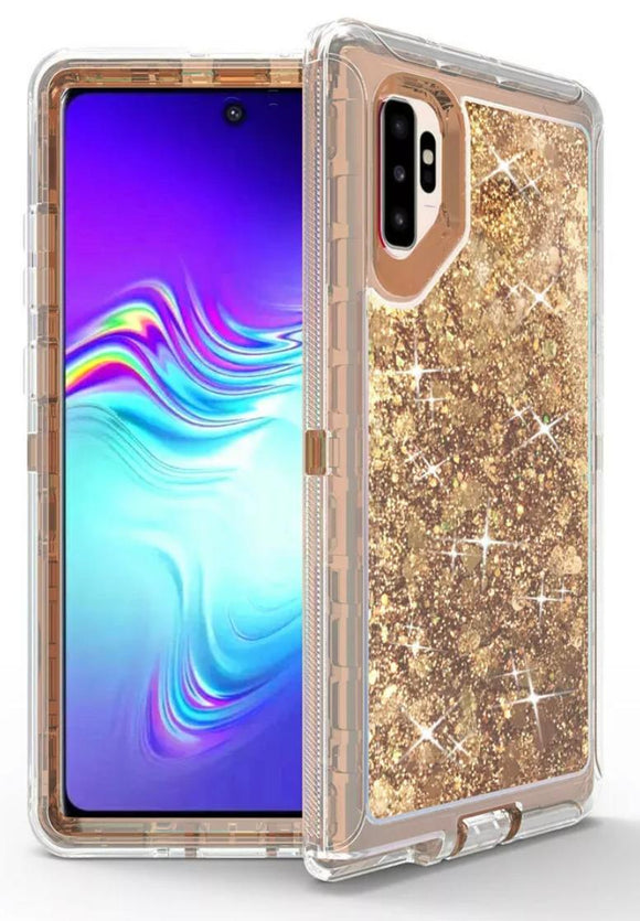 Phone cases for Samsung Note 10 Plus - Glitter Gold