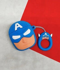Airpods 1/2 Captain America case
