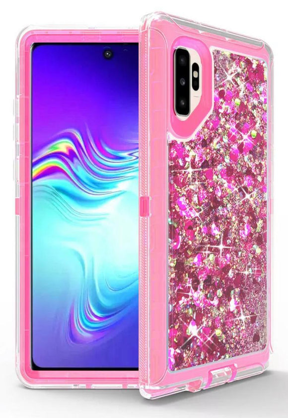 Phone cases for Samsung Note 10 Plus - Glitter Pink