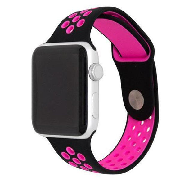Apple Watch Sport band 42 mm 44 mm wrist band apple series 5/4/3/2/1 universal - Black and red